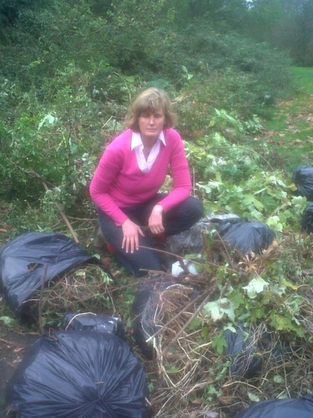 Cheam councillor Mary Burstow disgusted with fly-tipping