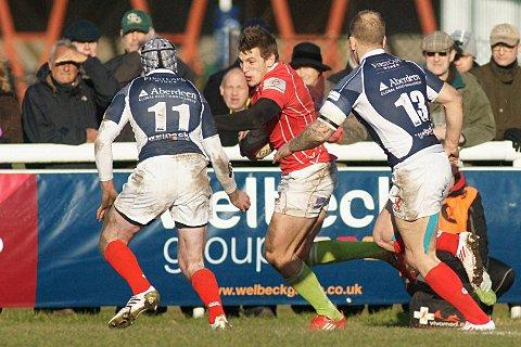 Scorer: Nick Scott, in action against London Scottish last season, was on the scoresheet for Welsh
