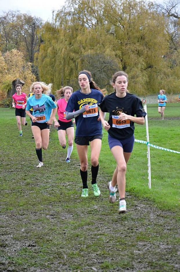 Running girl: Sophie Freeman winning the U17s cross-country competition at the London Youth Games