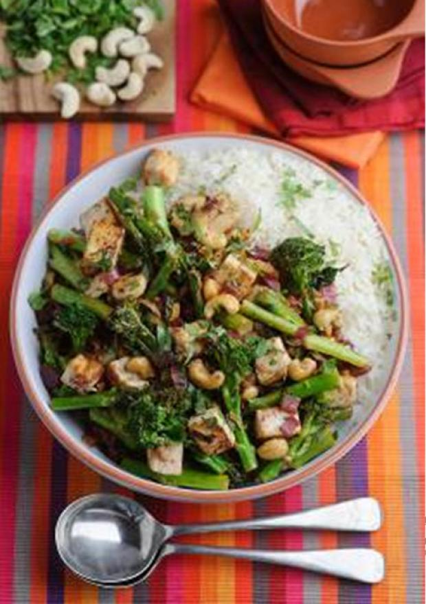 Recipe: Levi Roots' Tenderstem Broccoli, cashew and tofu stir fry