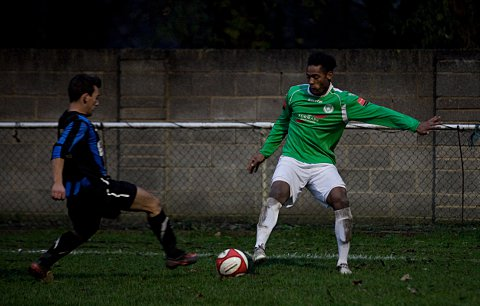 Goal man: Jerson Dos Santos grabbed Leafe's second goal at Corinthian    SP70855