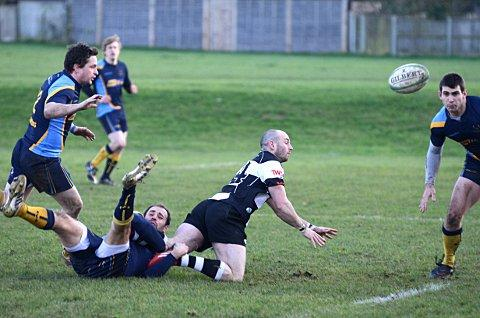 Try scorer: Mike Cartledge got on the scoresheet in the win over Teddington    SP70821