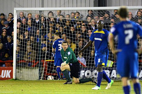 Frustrating times: Dons' inability to defend set pieces has left Neal Ardley seething		              SP72027
