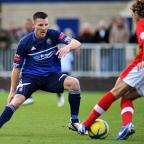 Out: Matt Smart, in action against Crawley Town in the FA Cup, has been released by Met Police