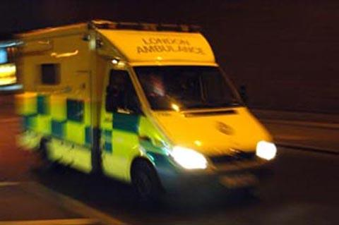 Cyclist taken to hospital after collision with car