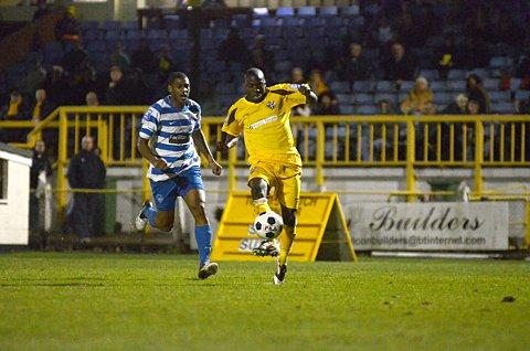 Sutton Guardian: At the double: Marvin Williams hit the back of the net twice in the 5-2 Surrey Senior Cup win over Whyteleafe     SP70822