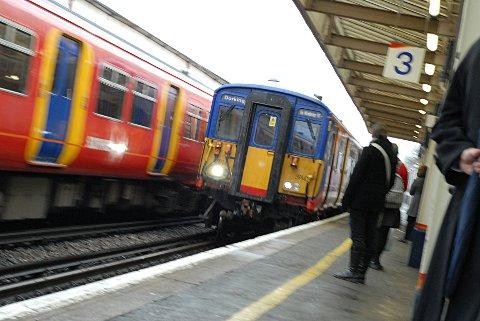 Severe delays at Clapham Junction London Victoria train station