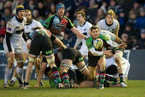 January: Quins scrum half Karl Dickson started the year in style