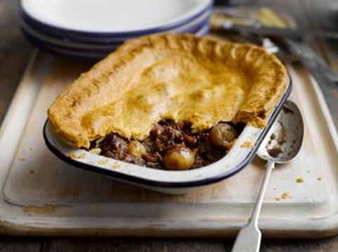 Recipe: Chunky steak, shallot and mushroom pie