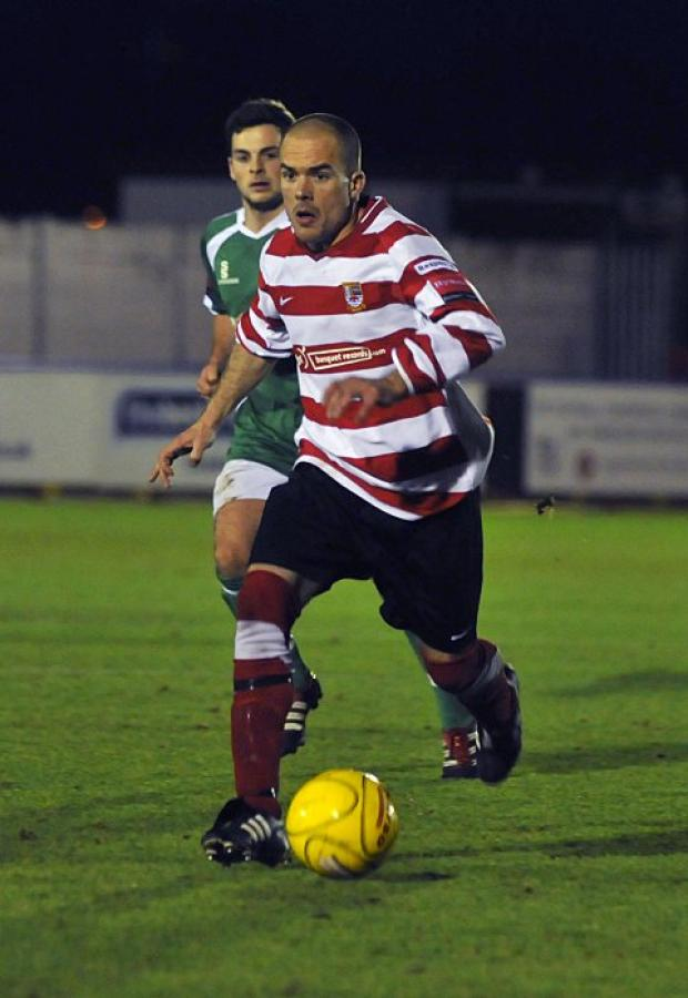 Familiar face: Corinthian Casuals' former Ks midfielder Jamie Byatt hit the winner on New Year's Day