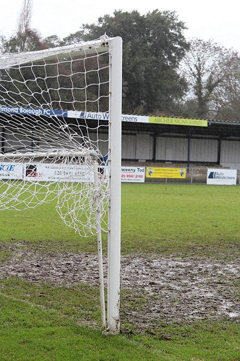 Sticky wicket: The Hampton & Richmond Borough pitch that is causing boss Mark Harper problems