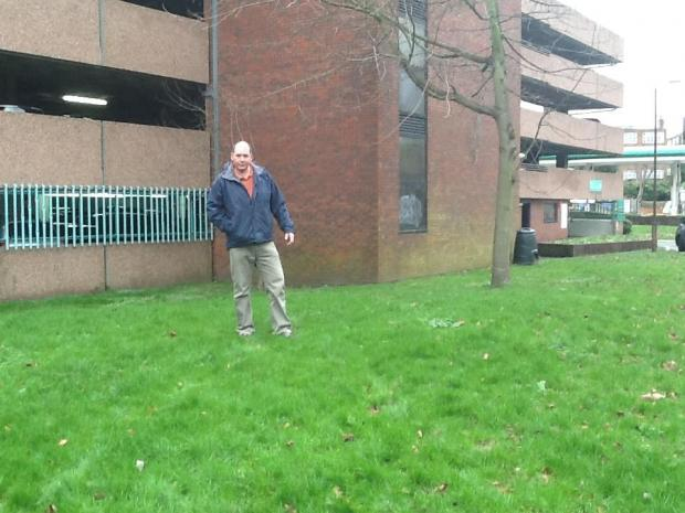 Councillor Tony Shields after asking the council to turn the area into a playground