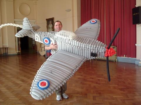 Mr Lee with his Spitfire model
