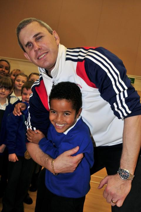 Hackbridge Primary School pupils learn lessons from Paralympic champ Ian Rose