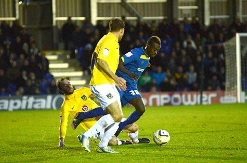 Wonder winger: Toby Ajala will remain a Dons' player for a few more weeks yet    SP70824