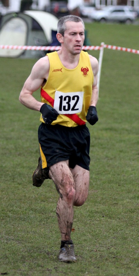 Leading the team home: Kieran White spearheaded Wimbledon Hercules senior men to silver at the Surrey Cross Country Championship