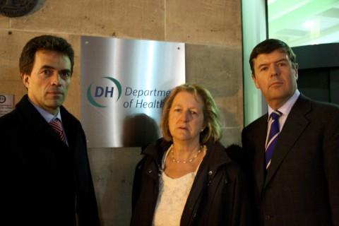 Tom Brake, Ruth Dombey and Paul Burstow