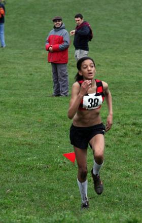 Resilient to flu: Katy-Ann McDonald won gold at the Surrey Schools' Cross Country Championship