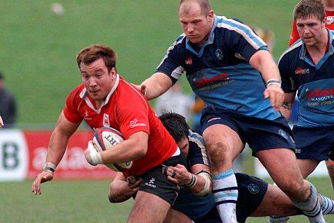 Returning home: Paul Doran-Jones in action for London Welsh against Newbury