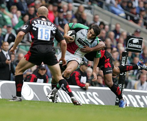 Welcome back: Former Quins centre Gonzalo Tiesi is back in the Premiership with London Welsh