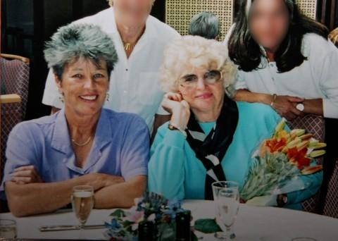 Gloria Foster (right) with friend Ann Penston