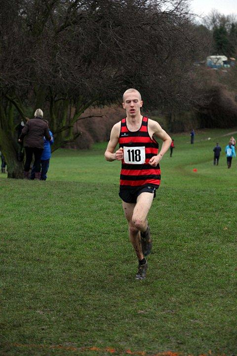 Catching the eye: Lewis Lloyd finished 15th in a high-class field at the British Universities & Colleges Sport Cross Country Championships