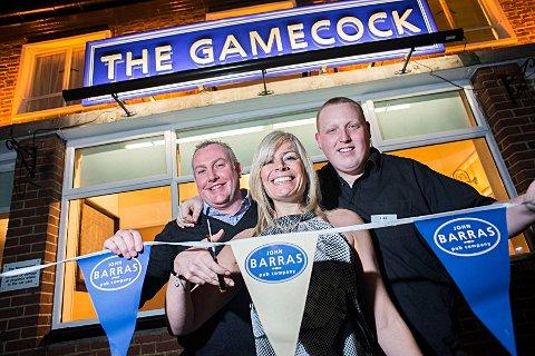 The Angus family re-opened The Gamecock pub in Worcester Park