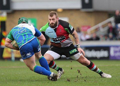 Sutton Guardian: Fine fettle: Harlequins prop Joe Marler is out to cement his place in the England starting line-up
