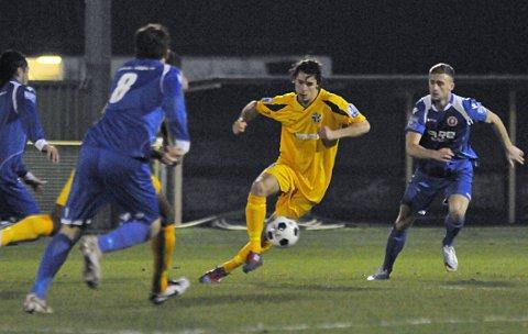 Ottaway to beat Welling: Goal scorer Harry Ottaway in action against Welling United on Tuesday night   SP73974