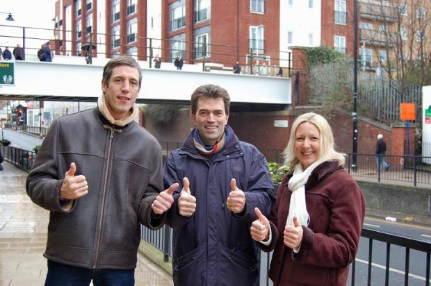 Wallington resident Gregory, Tom Brake and Jayne McCoy