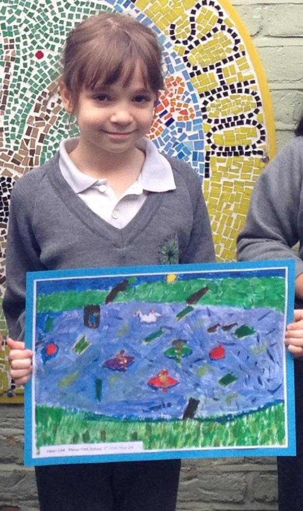 Manor Park schoolgirl beats competition from around Surrey in World of Water environmental art competition