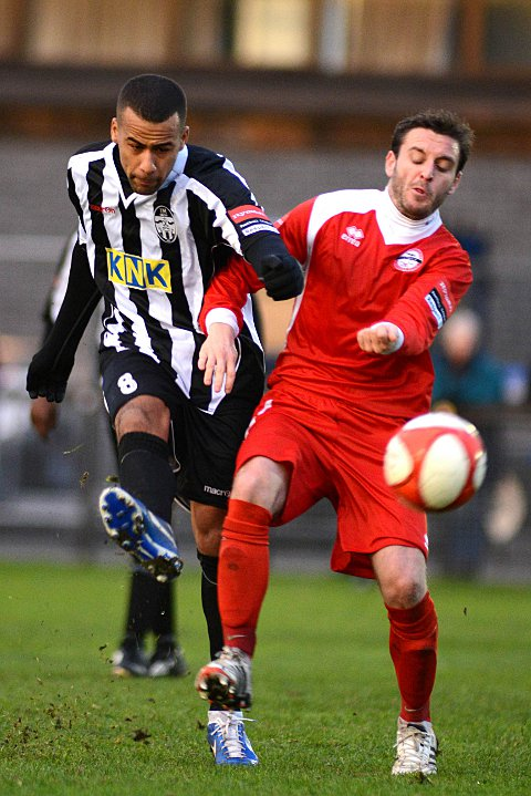 Nothing ever happens: Lee Hall (left) says the Tooting players are happy to play for Phil Simp