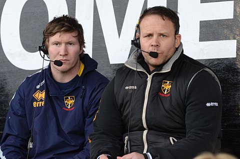 Verbal abuse: Easher head coach Ollie Smith and assistant Ricky Nebbett have been suspended by the RFU