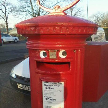 A happy post box in Sutton