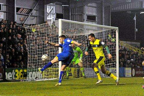 Sutton Guardian: Hitman: Gary Alexander drew a blank against Plymouth Argyle on Tuesday night   SP74266