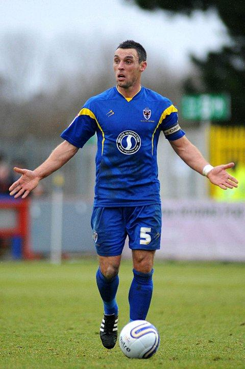 Former Don: Jamie Stuart, in his days at Kingsmeadow, is hoping the Dons survive the relegation fight in League Two    SP63617