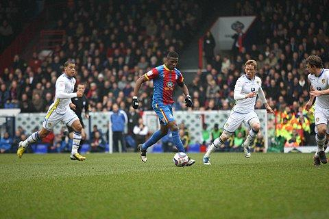 Facing ban: Wilfried Zaha has been charged with improper conduct by the FA. SP72950