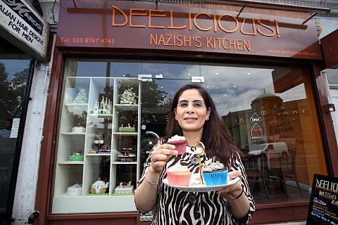 Nazish Omar owns a bakery in Tooting