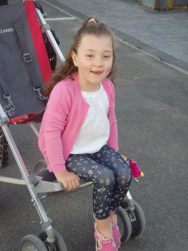 Grace Dunbar has been struggling with her manual wheelchair