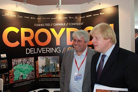 Mike Kiely from Croydon Council with Boris Johnson, London's Mayor