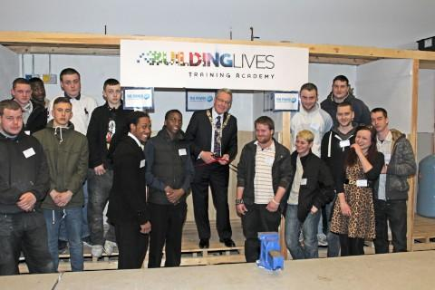 ean Brennan attended the launch of the Building Lives Academy