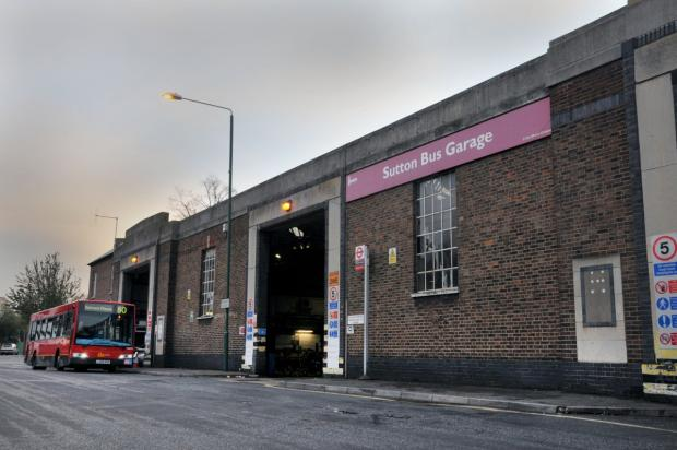 Sutton Guardian: Sutton bus garage