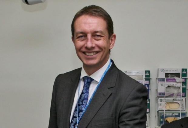 Sutton Guardian: Epsom and St Helier chief exec Matthew Hopkins