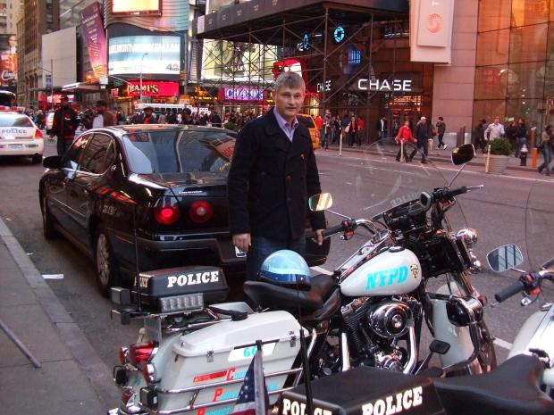 PC Andrew Duncan, shown here on a holiday to New York, was killed by hit-and-run driver Gary Cody in September last year