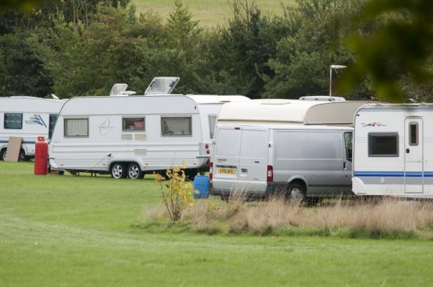 Travellers on Rose Hill Park last year