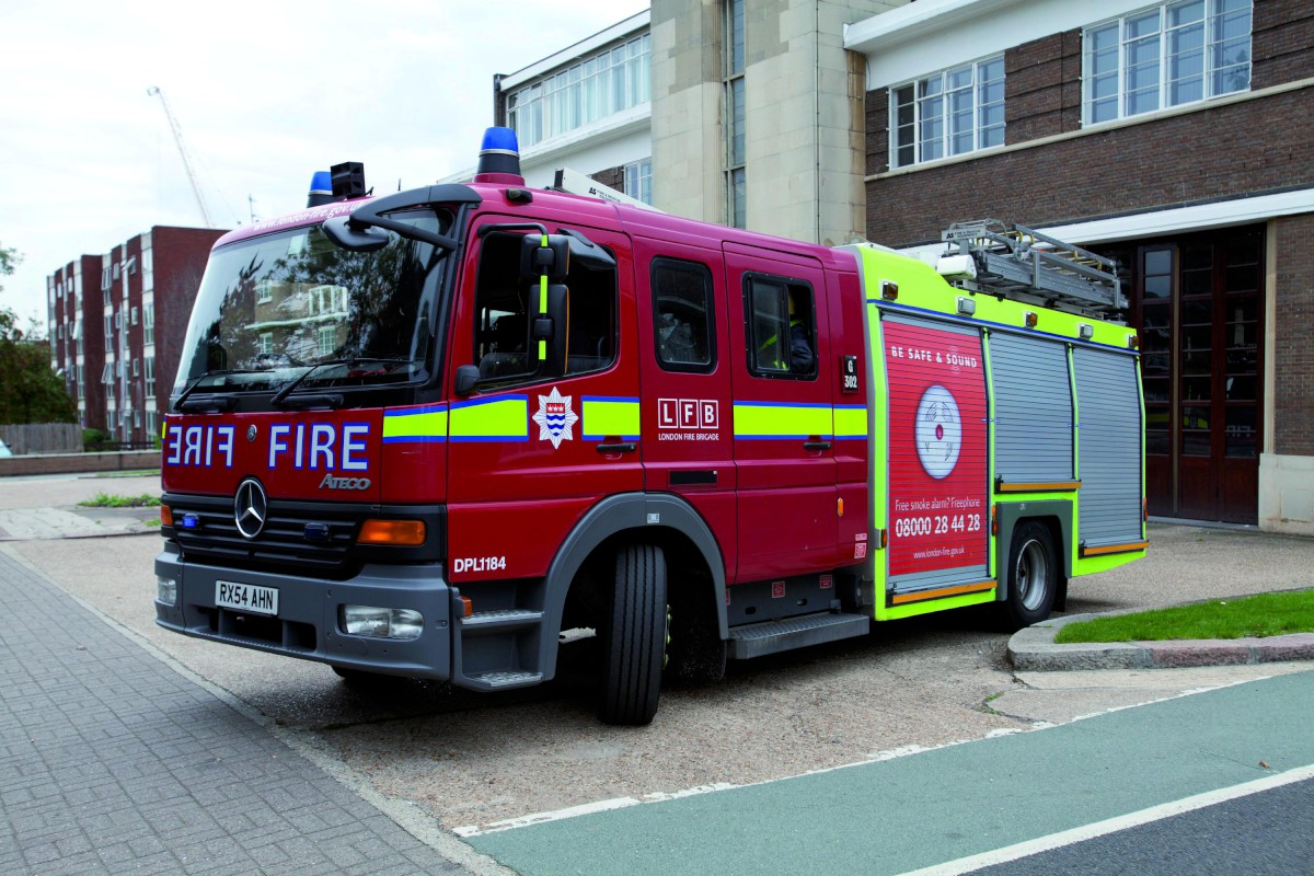 A crew from Wallington fire station was called to Stanhope Road