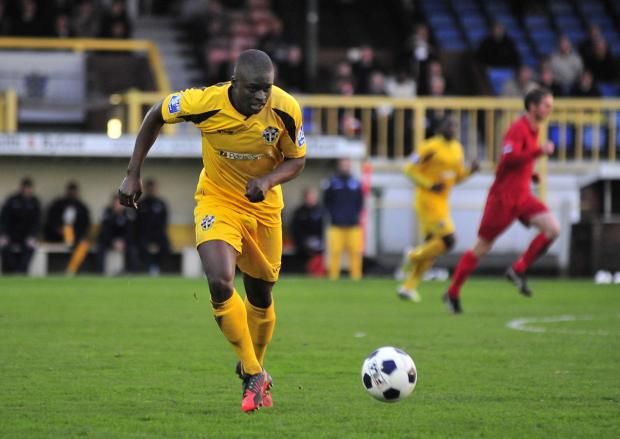 Sutton Guardian: Michael Boateng playing for Sutton United