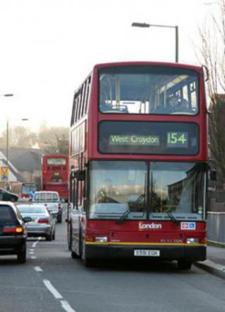 It is believed the bus was a 154 travelling towards Morden