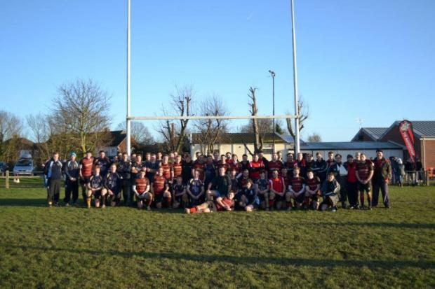 Winners: The sides from Teddington and Twickenham