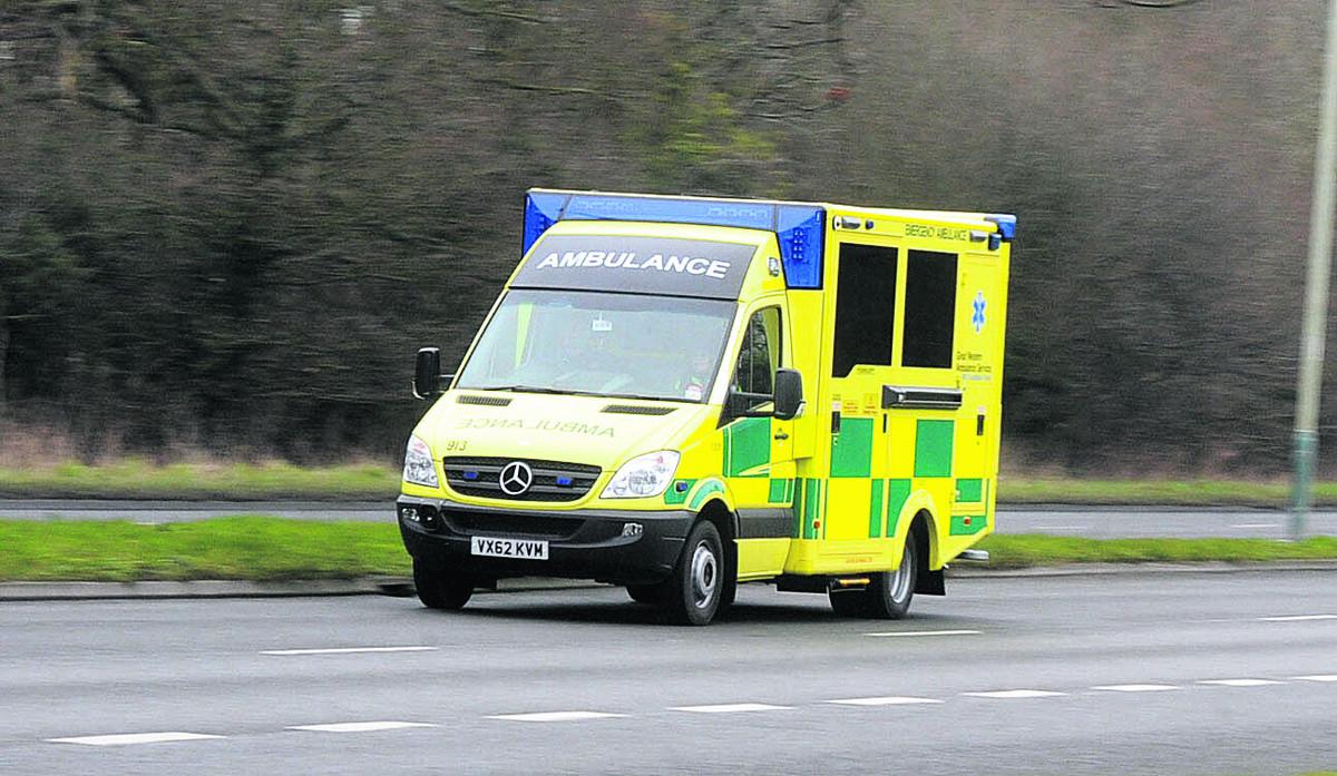The London Ambulance Service were called to the scene